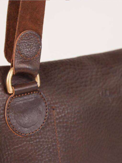 Leather bag stitch detail