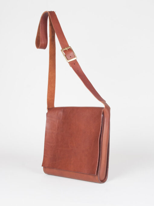 leather messenger bag tan