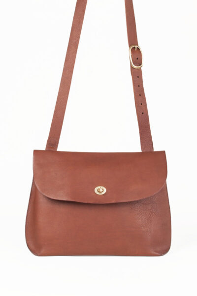 Large tan cross body bag