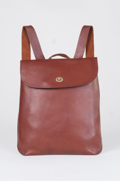 leather rucksack tan