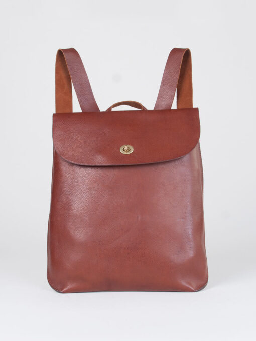 leather rucksack tan