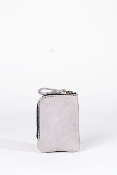 grey zip wallet