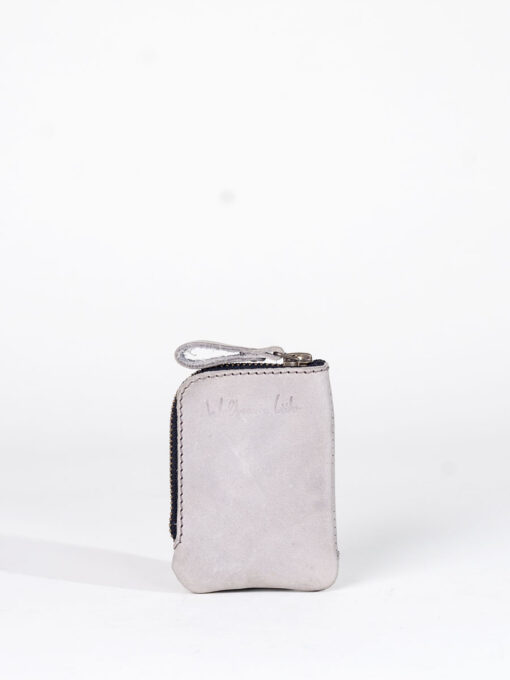 grey zip wallet
