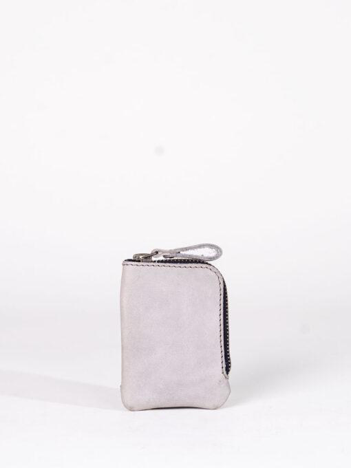 grey zip card wallet
