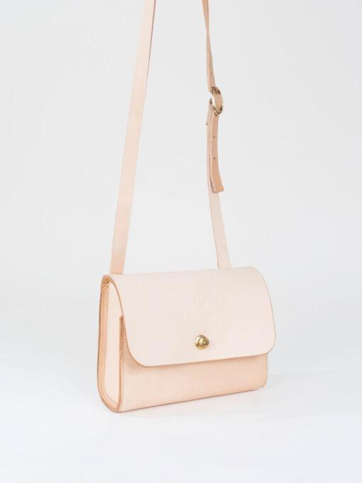 nude leather shoulder bag