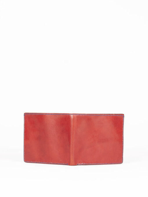 red leather handmade wallet