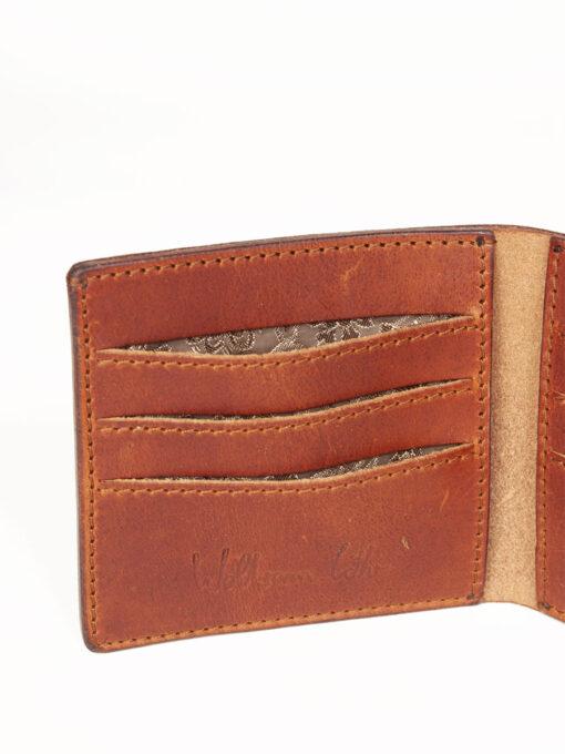 brown handmade wallet