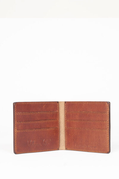 brown leather credit card wallet