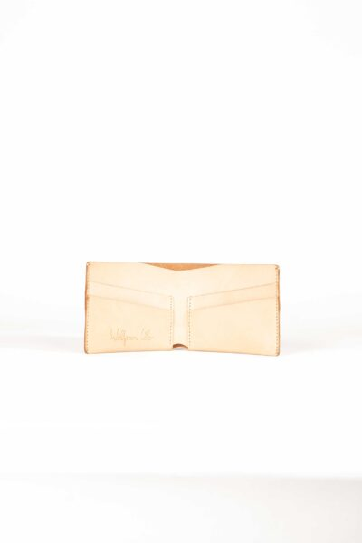nude leather bifold wallet