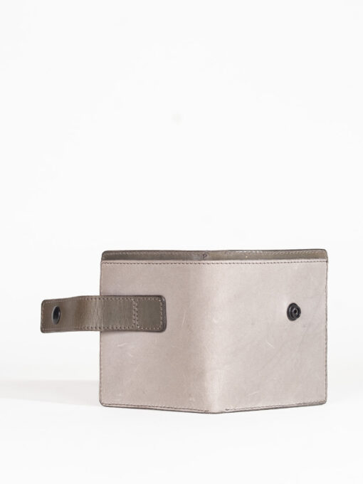 grey handmade leather wallet