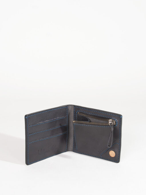 black leather credit card wallet