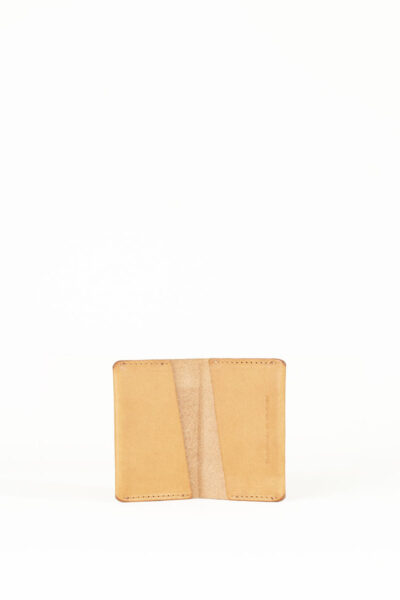 tan card pocket wallet