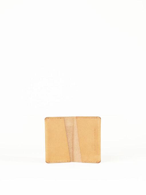 tan card pocket wallet
