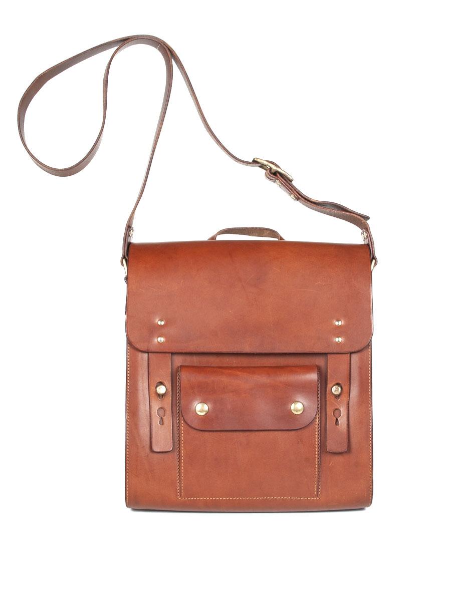 Leather Robin Satchel – Medium Tan