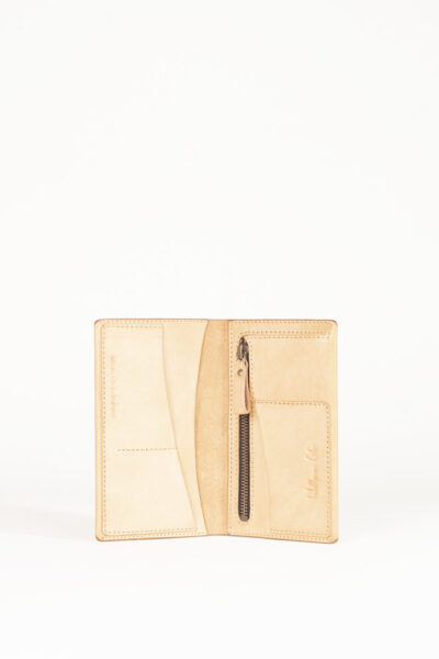 nude leather wallet
