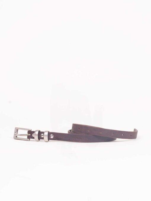 ladies brown leather belt