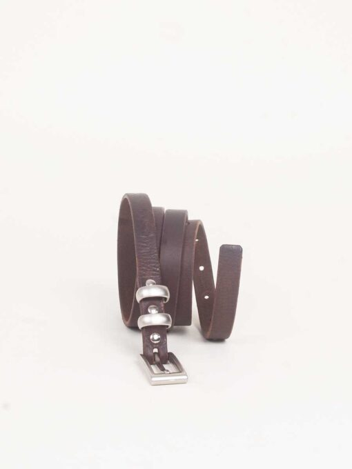 skinny brown leather belts