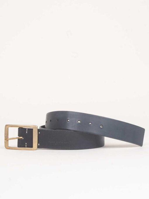 handmade black leather jeans belt