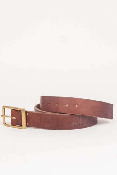 handmade oak bark tanned leather belt