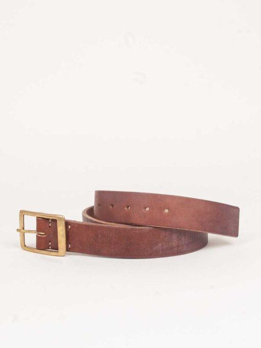 handmade oak bark tanned leather belt