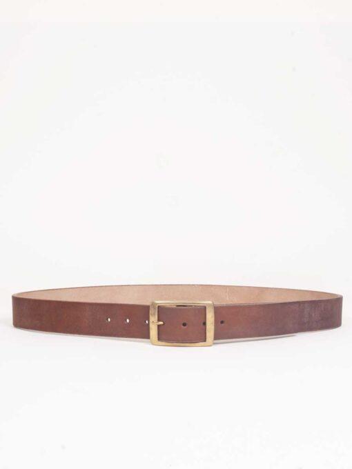 handmade oak bark leather belt brown