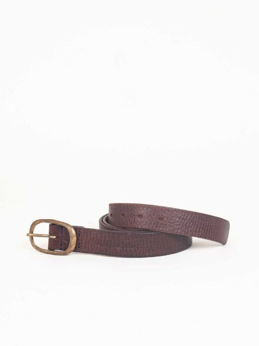 classic 3cm brown leather belt