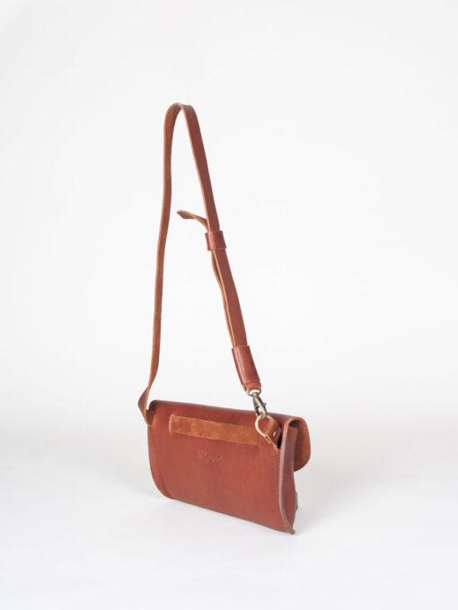leather belt bag made in vegetable tanned leather