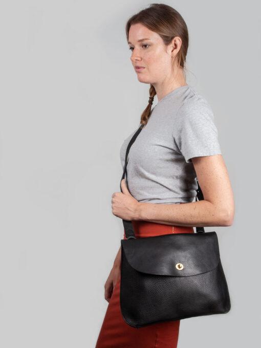 large black cross body bag