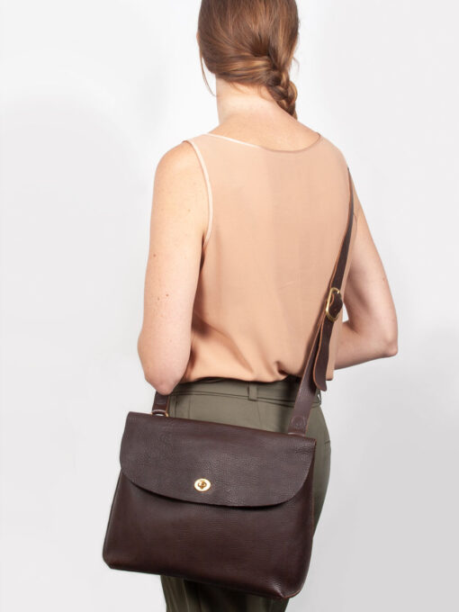 large brown cross body bag