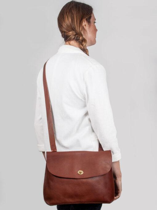 large cross body bag tan