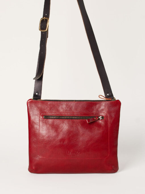 red leather cross body bag
