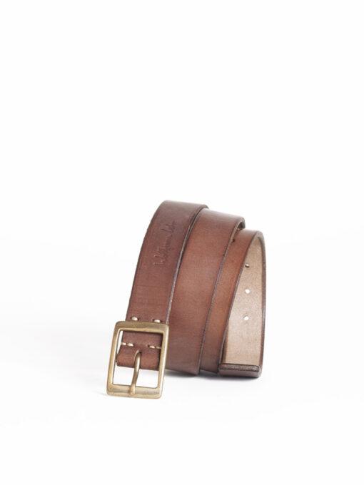handmade brown leather belt