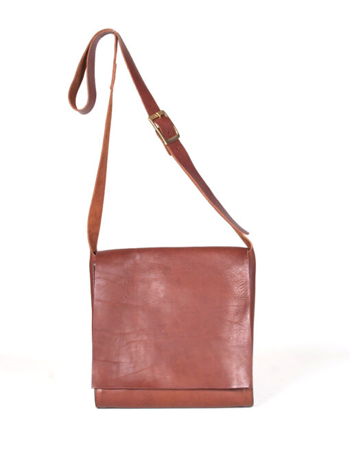 leather tan messenger bag