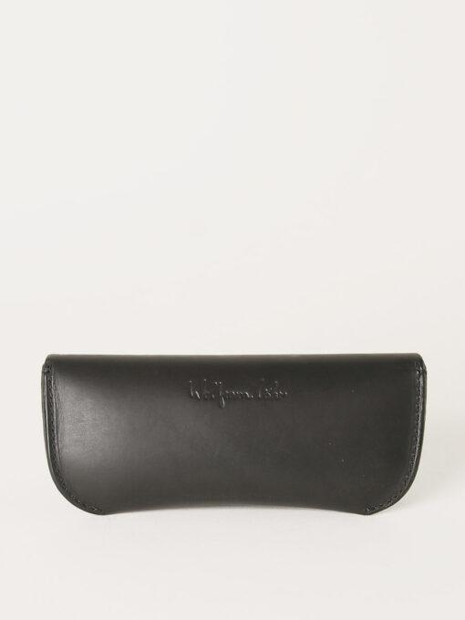 black leather glasses case