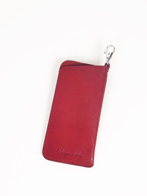 red leather glasses case