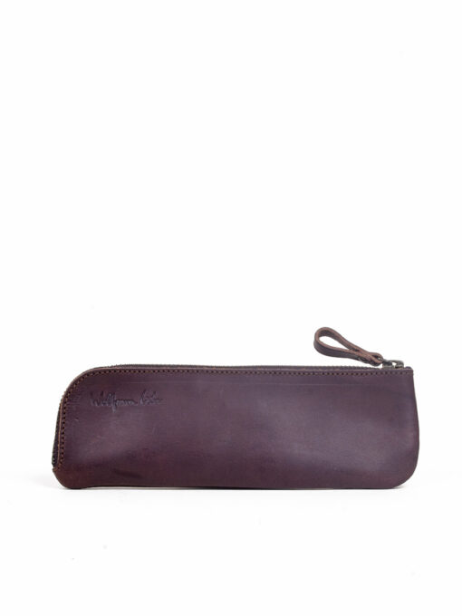 brown handcrafted leather pencil case