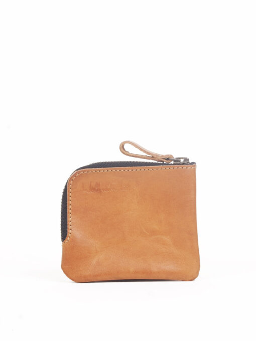 tan leather pocket wallet