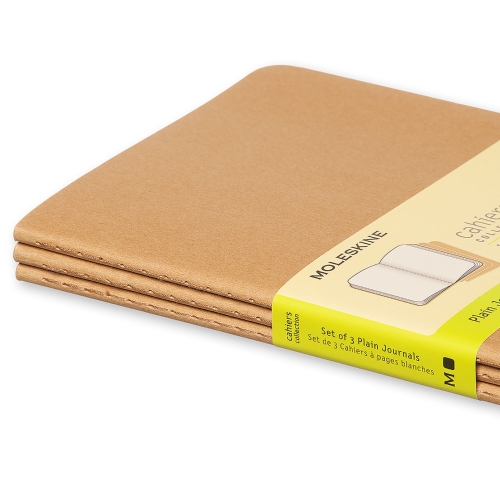 kraft pocket plain cahier moleskine
