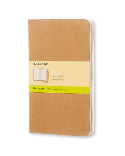 brown large plain cahier moleskine