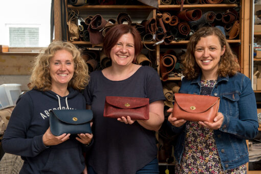 leather clutch bag making workshop