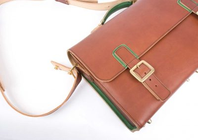 brown leather laptop satchel