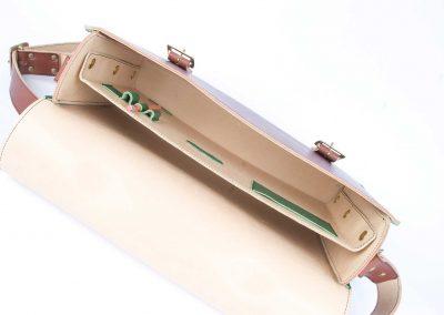 handmade leather laptop satchel