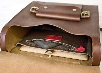 Handmade laptop rucksack