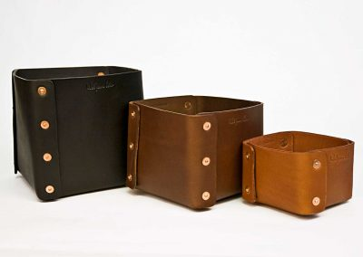 handmade leather boxes