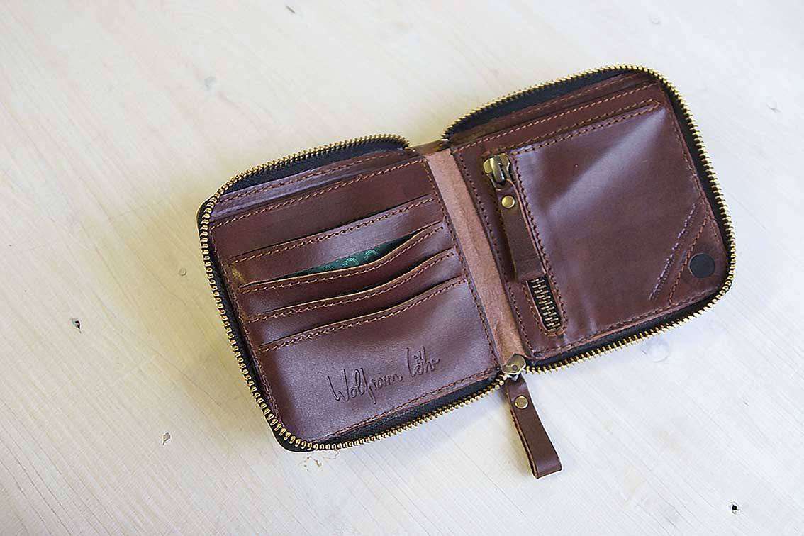 Zip Around Wallet brown