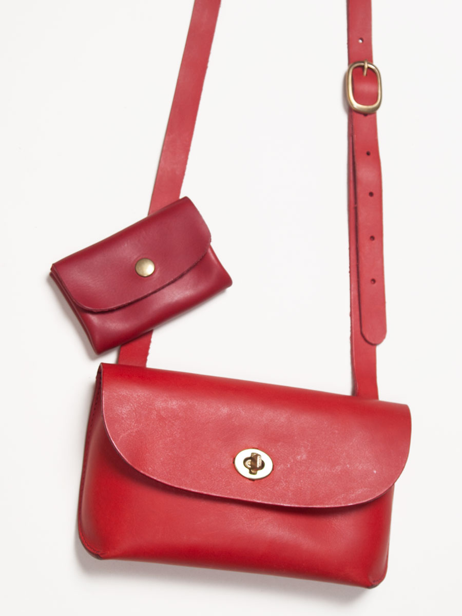 Georgia Bag Red with Pouch Purse