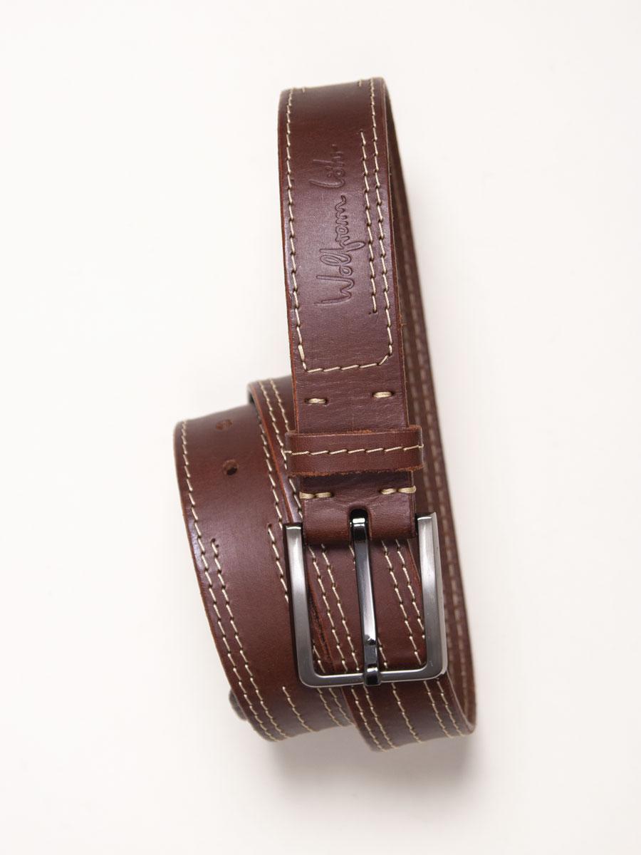 Stitch Detail Brown Leather Belt £70